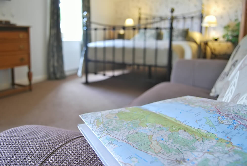 Stay in Methera, a Superior Double room - dog friendly B&B, bed and breakfast at Tower Bank Arms, Near Sawrey, close to Hawkshead, Ambleside & Windermere.